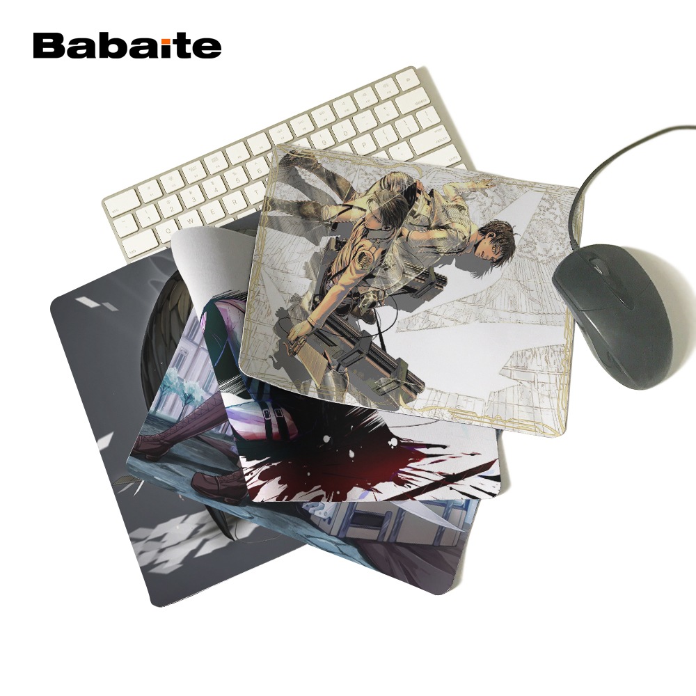 Babaite Your Own Amazing MousePad Attack on Titan Levi Eren Wings Soldiers Customized Computer Notebook Beautiful Anime Mouse