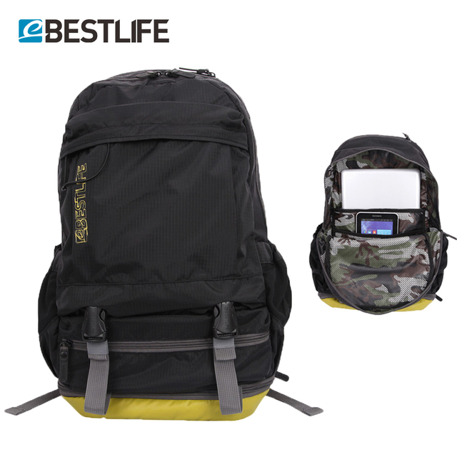 BESTLIFE Light Weight Short Journey Travel Rucksack With Shoes Compartment  Waterproof Ripstop Nylon Laptop Backpack Men Women 852f146cce