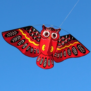 1 PC New Nylon Cartoon Owl Flying Kites For Children Adult Outdoor Fun Sports Toy For Children 1