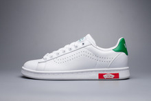 Vans x Smith classic old skool unisex white shoes for men's and women's os skateboarding sneakers