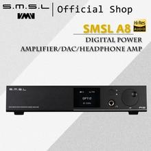 SMSL A8 125Wx2 AK4490 768 кГц DSD512 XMOS HIFI ICE Мощность модуль аудио цифровой Мощность усилитель/ЦАП/наушники amp последнее решение