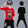2017 Hot Sales New Spring Children Boys Clothing Suits Baby Streetwear Explosion Paragraph Boys Sweater Sports Two-piece Clothes