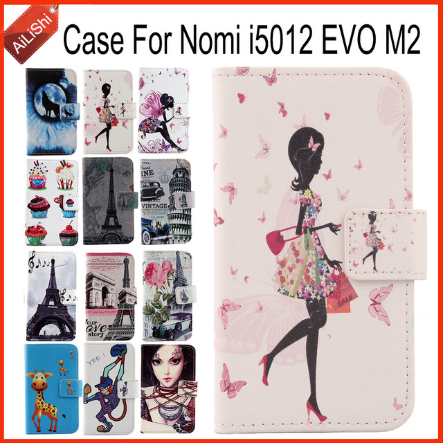AiLiShi Factory Direct! Case For Nomi i5012 EVO M2 Luxury PU Flip Leather Case Exclusive 100% Special Phone Cover Skin+Tracking