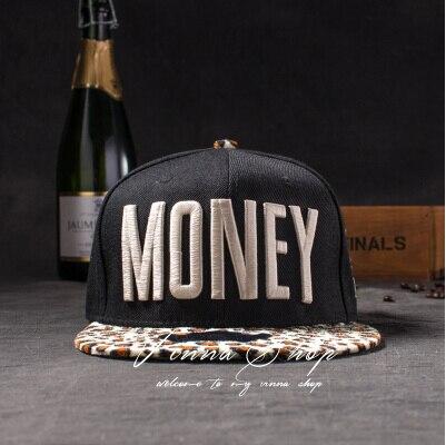 Новые модные мужские и женские повседневные кепки Snapback Swag MONEY Letters 3D Вышивка Хип-Хоп Кепка бейсбольная кепка s Bone Gorras для мужчин и женщин - Цвет: Leopard