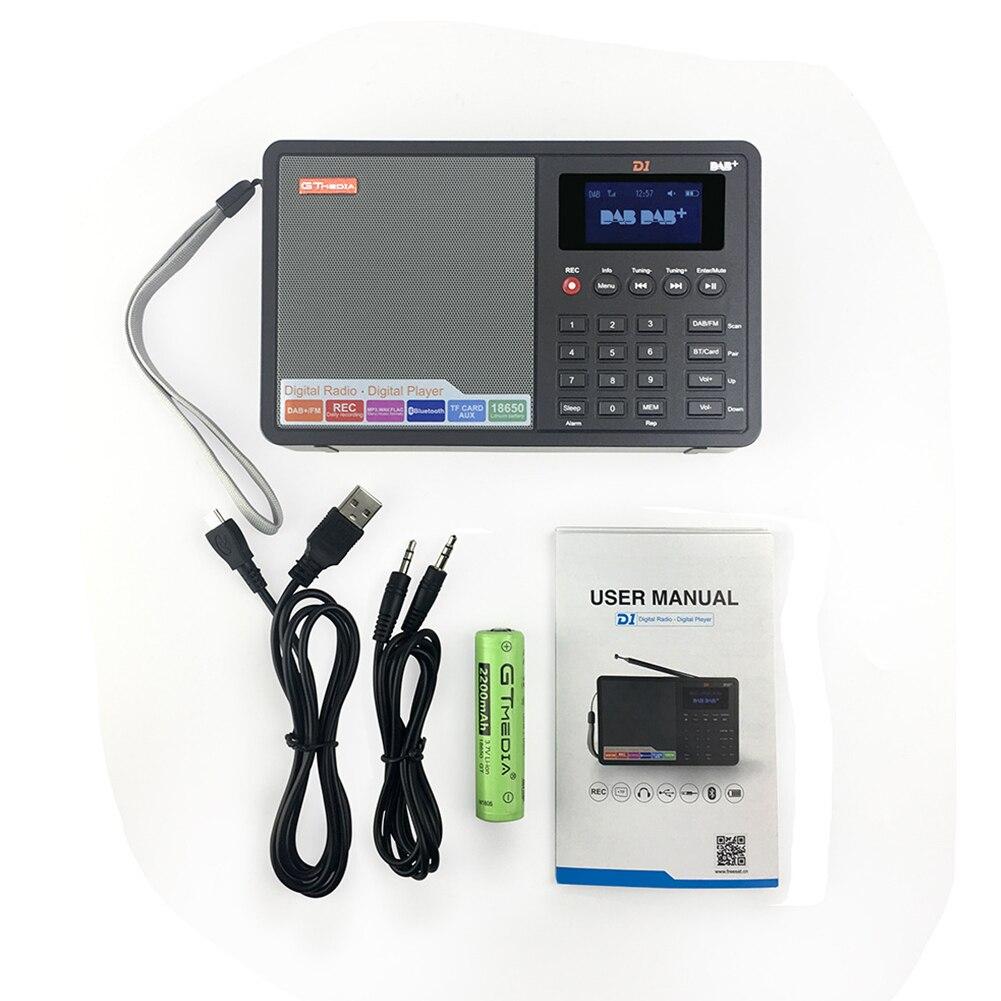 Nouveau professionnel noir GTMedia D1 DAB + Radio Stero pour le royaume-uni EU avec haut-parleur intégré Bluetooth