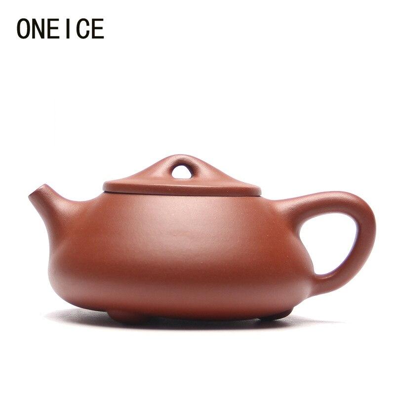 Chinois Yixing Teaware argile pourpre Théière Pierre cuillère pot Qing ciment théière Auteur: jing hua ji Salut Qualité Balle Trou Limitée