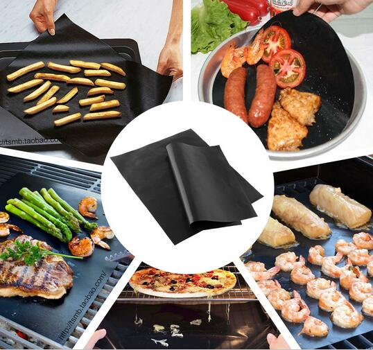 1PC Non adhesive high temperature resistant barbecue NON Stick Surface Hot Plate font b Mat b