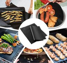 1PC Non adhesive high temperature resistant barbecue NON-Stick Surface Hot Plate Mat BBQ Mat Baking Easy Clean Grilling