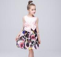 Girl Party Evening Vestidos Dresses Children Clothing Nova Brand European Style Cute Sweet Princess Dress For