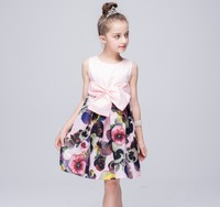 Girl Party Evening Vestidos Dresses Children Clothing Nova Brand European Style Cute Sweet Princess Dress For