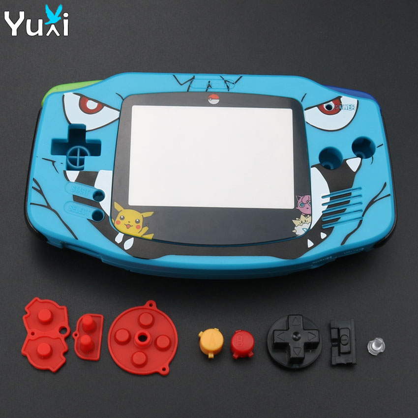 YuXi High Quality New Plastic Shell Case Cover Blue Housing For Nintendo GameBoy Advance GBA Replacement Parts