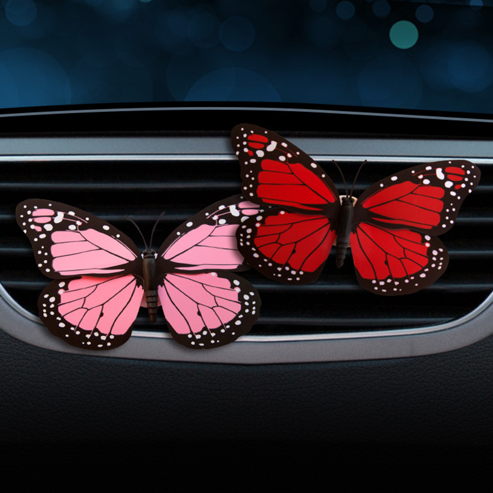 Car Perfume Clip Butterfly Fragrance Air Vent Freshener Auto Interior Outlet Decoration Accessory Trim Diffuser Adornment Gift