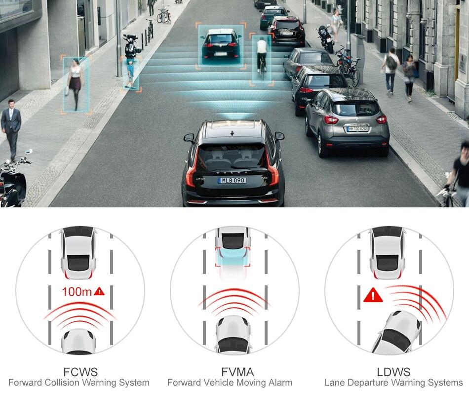 RUCCESS R40S 4G Dash Cam Car DVR Wifi GPS Camera Remote Monitor ADAS Smart Android 5.1 Dual Lens 1080P Nigth Vision Dashcam DVRs 11