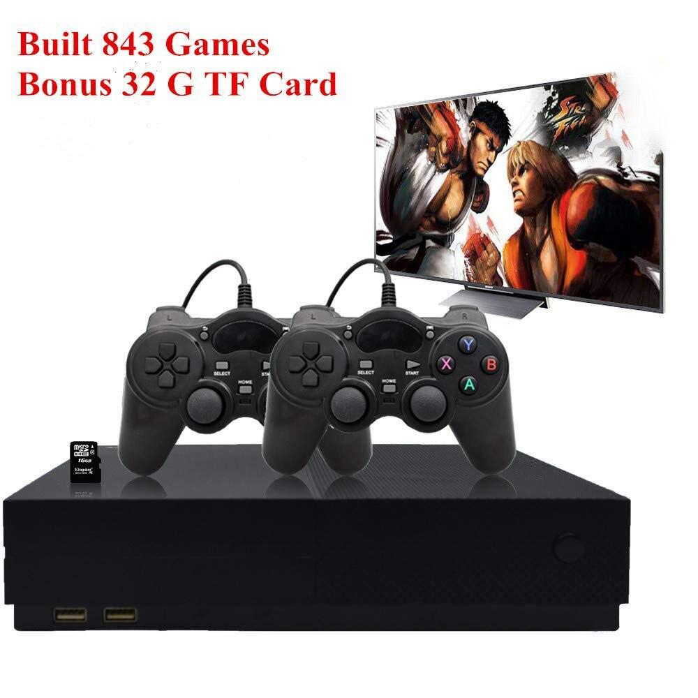 Console de Jeux rétro, Système de Divertissement HD Jeu Vidéo Console 32 GO 800 Classique Jeux 4 K HDMI Sortie TV avec 2 pièces Manette