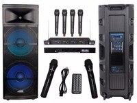 STARAUDIO 15 5000W Pro PA DJ Stage Powered Active MP3 SD FM BT RGB Light Speaker