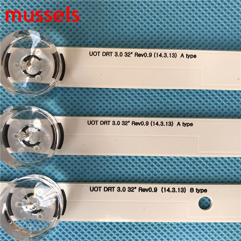 """Image 2 - LED backlight strip For LG 32"""" TV 6lamp 590mm innotek drt 3.0 32""""A B 6916l 1975A lv320DUE 32LF5800 LC320DUE MG FG A3 6916L 1701A-in Industrial Computer & Accessories from Computer & Office"""