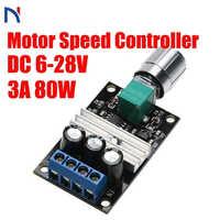 DC 6-28V 12V 24V 3A PWM controlador de velocidad del Motor regulador ajustable Variable Interruptor de Control de Velocidad Motor DC para ventilador gobernador herramientas