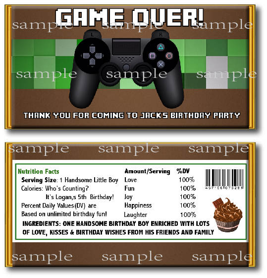 Online Shop 10 Pcs Top Video Game Birthday Candy Bar Wrapper