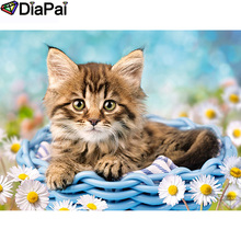 DIAPAI 100% Full Square/Round Drill 5D DIY Diamond Painting Animal cat flower Embroidery Cross Stitch 3D Decor A21061