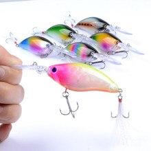 Floating Wobbler Laser Minnow Fish Lure 11CM 18G Artificial Plastic Pesca Hard Bait Carp Crankbait 6Colors 1pcs/lot WS-20