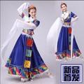 Новые Тибетские Танцевальные Костюмы Женский Тибетский Вращает Одежды Меньшинства Танцевальные Костюмы Женский Dance Dress