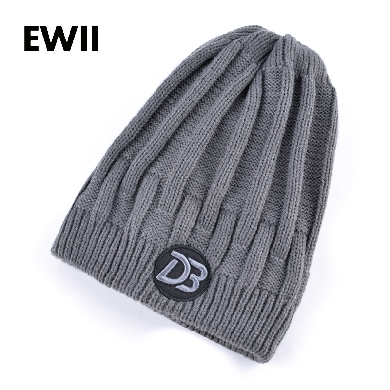 2017 Fashion winter beanie hats for men warm wool cap skullies unisex knitted beanies cap men casual hat toca feminina women s winter hats for men skullies beanies warm cap fashion solid colors outdoor caps unisex elastic beanies kintted wool hat