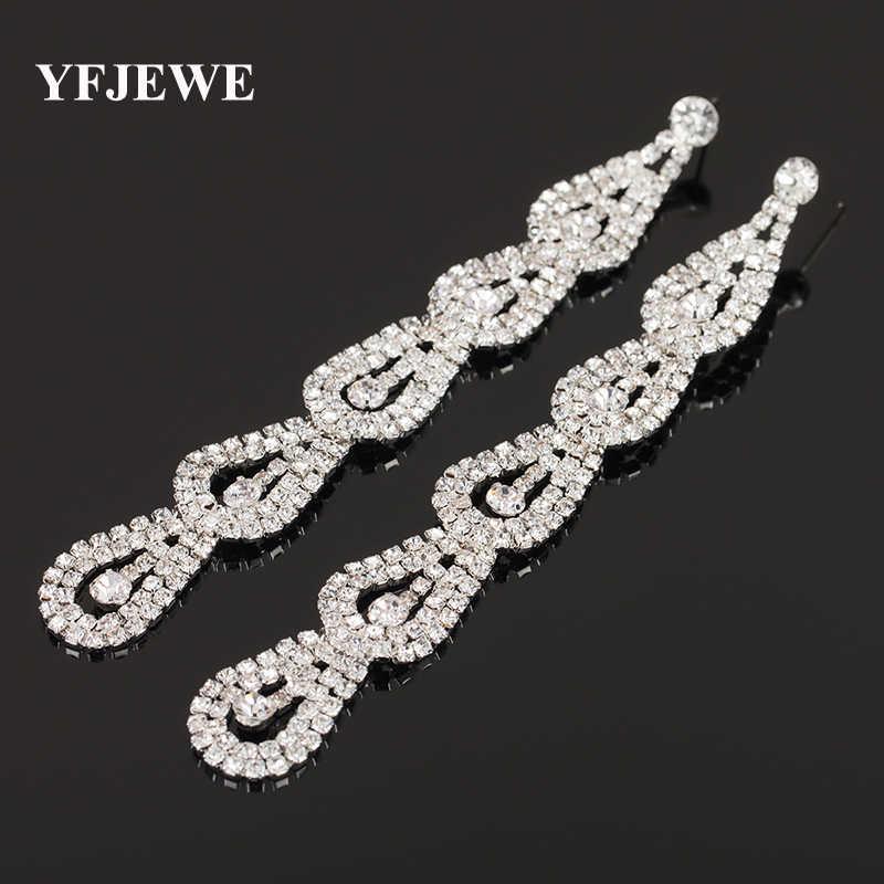 YFJEWE Fashion Jewelry Women Luxury Rhinestone Earrings Wedding Party  Accessories Earring Bijouterie Engagement Earrings E253 b76079054966
