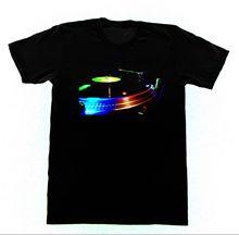 Awesome classic turntable black men's t-shirt