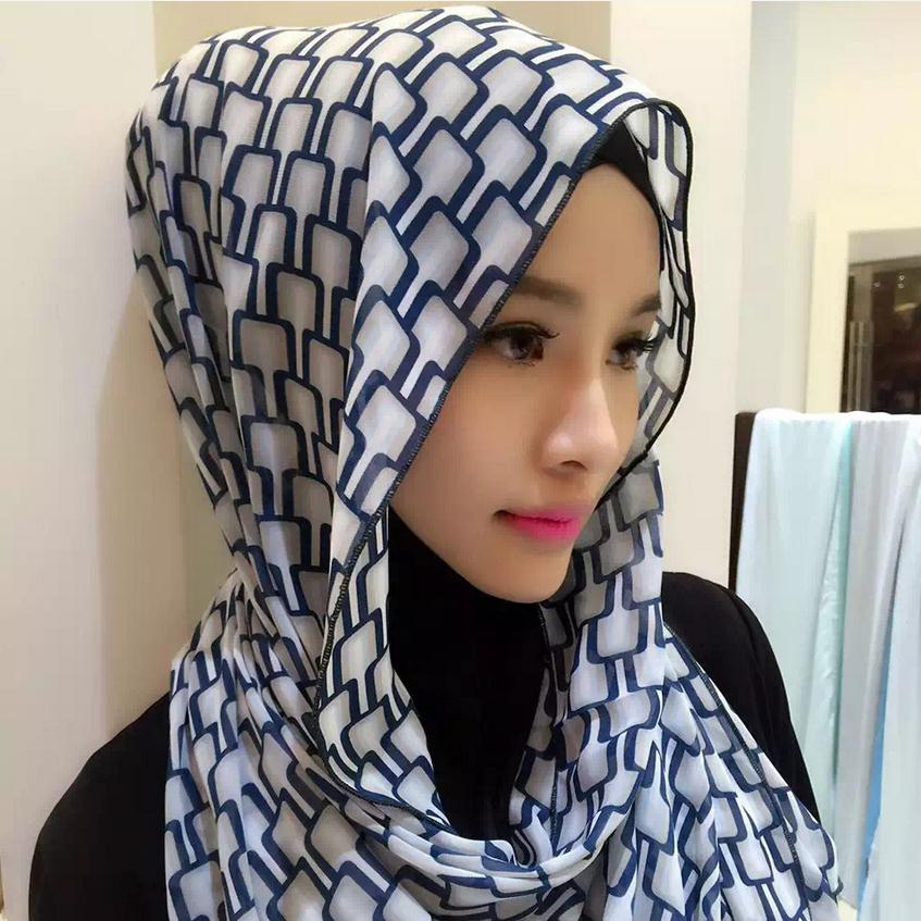 2017 Adult Quantity Promotion Fashion Muslim Acetate Printed Headscarf Hijab Veil Malaysia