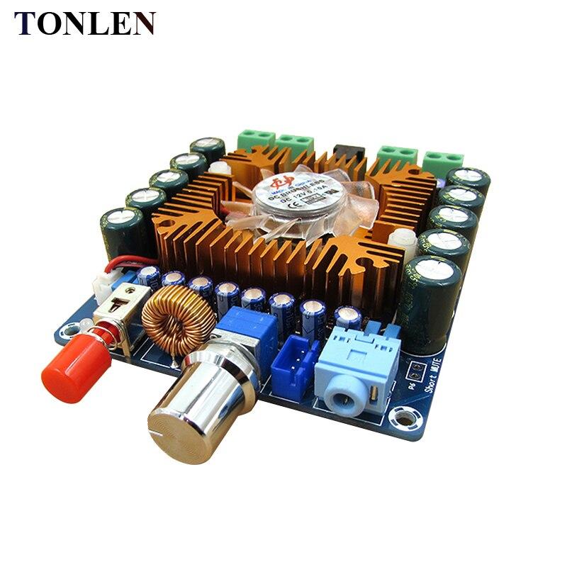 TONLEN TDA7850 Car Audio Amplifier Board 50W*4 4.0 Channel HIFI Amplifier Module DC12 16V Home Theater DIY Amplifiers Kit