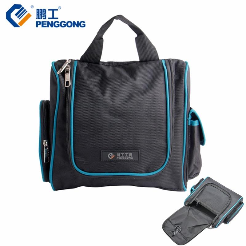 PENGGONG Electrician Tool Bag 240*230*90mm Tool Bag Organizer Tool Belt Oxford Canvas Handbag Toolkit