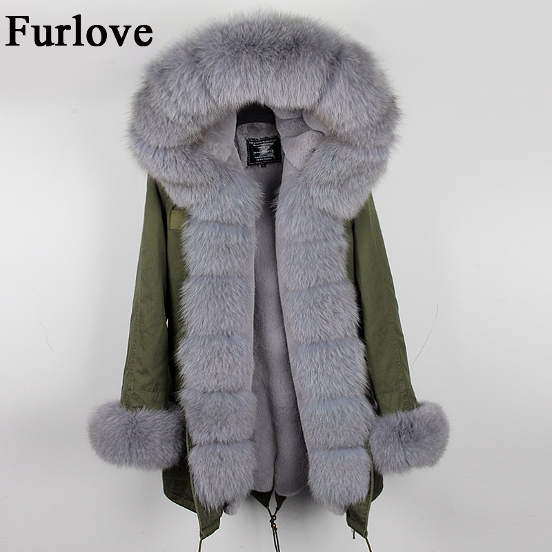 Womens Winter Jacket Women Coat Jackets Real Fox Fur Collar Hooded Coats Vintage Warm Thick Parka Army Green Black Long Parkas winter coat women womens jackets natural raccoon fur collar hooded jacket real fox fur parka thick coats casual long warm parkas