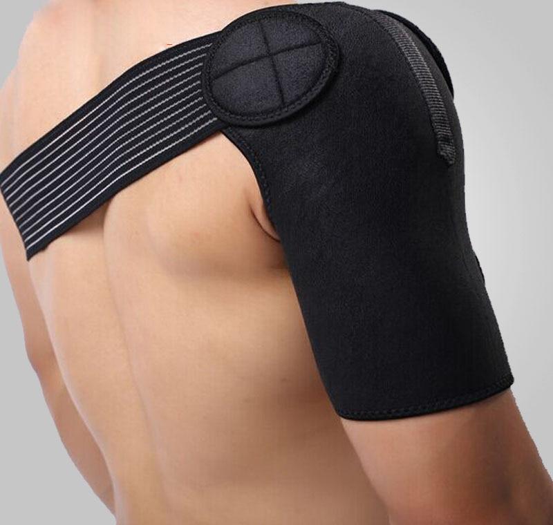 JORZILANO Breathable Gym Sports Care Single Back Brace Guard Strap Wrap Belt Band Pads Black Bandage Men Women Shoulder Support