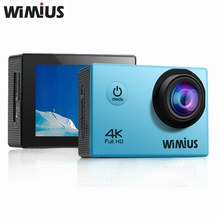 Wimius Wifi 4K Action Camera Full HD 1080P 60fps 2.0″ LCD Mini Sport Helmet Cam Go Waterproof 40m Pro Two Batteries+Accessories