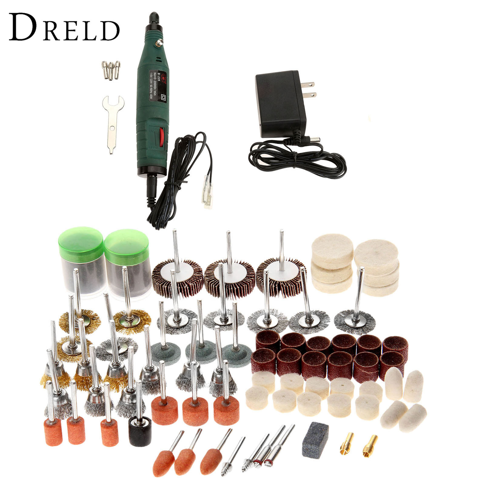 DRELD 12V Mini Grinding Machine Electric Drill Die Grinder Electric Tool+145Pcs Grinding Polishing Sanding Tools for Rotary Tool  цены