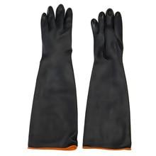 Новый safurance латекс промышленные резиновые Перчатки кислот и щелочей антикоррозийной черный на рабочем месте Предметы безопасности защитные перчатки