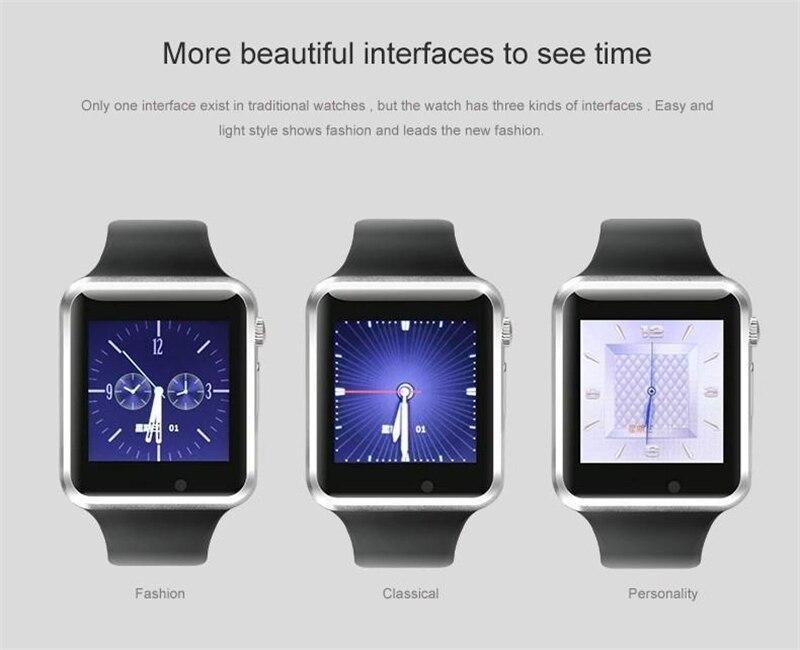 Popularni Smart Watch A1 W8 s fotoaparatom s sim karticom Bluetooth - Pametna elektronika - Foto 4