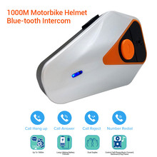 BT-S2 Waterproof 1000m Handsfree Motorcycle Helmet Intercoms Moto Wireless Bluetooth Headset Interphone Mini Sport FM MP3