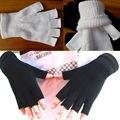 Женщины Зима Сплошной Цвет Пальцев Половины Пальцев Теплые KnitMagic Перчатки Рукавицы