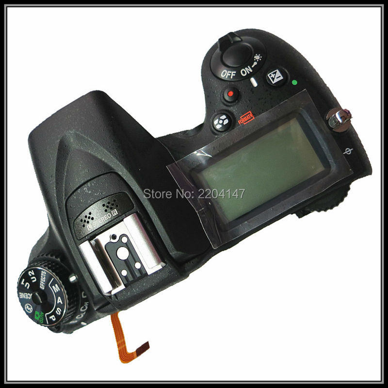 Free shipping 100%  original  Genuine Top Cover Shell Unit with top lcd,flash board,Flex cable FPC for Nikon D7100 top cover top case with flash board top lcd fpc unit for nikon d610 slr camera repair replacement part