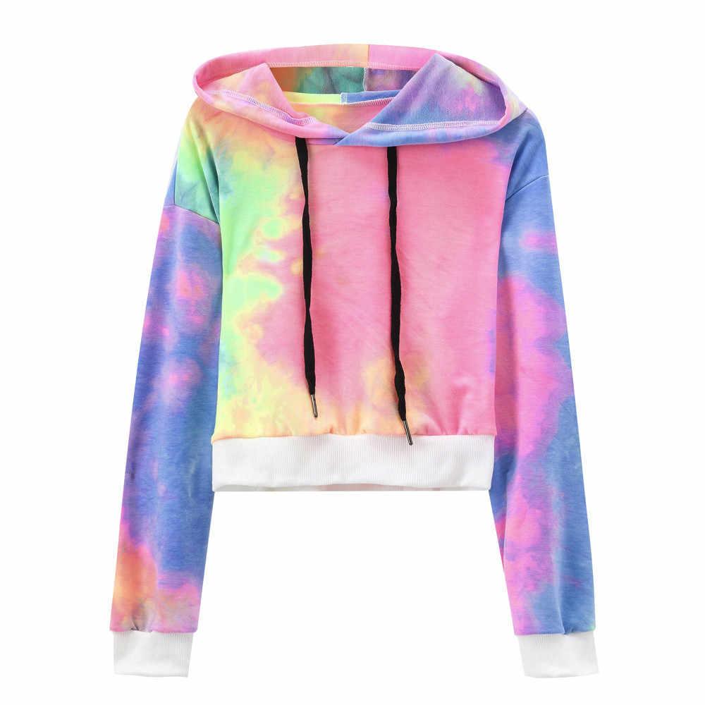 17b0779d46d96 ... Fashion hoodies women Sexy Printed Hooded Long Sleeve Short Sweatshirt  Hoodies Tops Blouse sudadera mujer ...