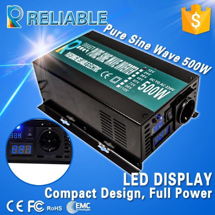 ФОТО off grid 500w pure sine wave inverter solar power inverter LED display DC to AC converter car inverter home inverter