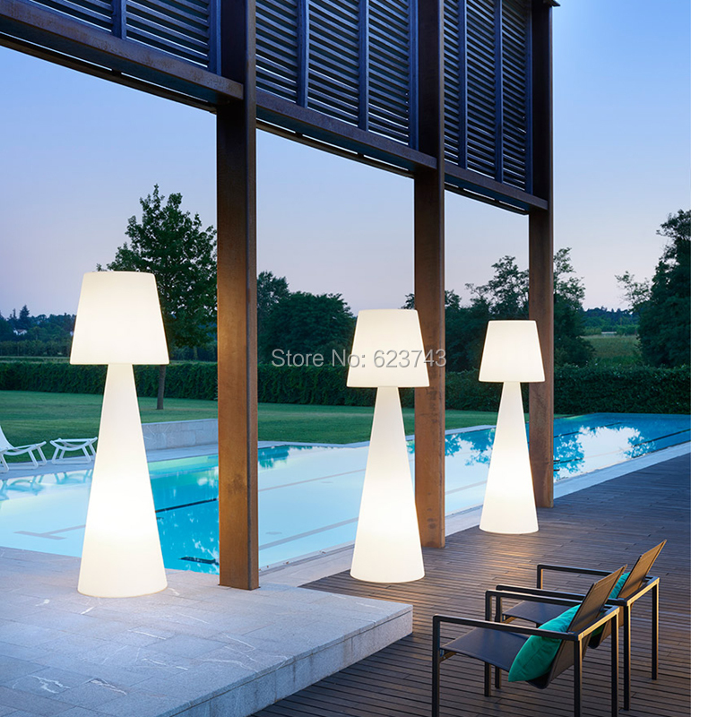 Us 139 99 Waterproof Pivot Lamp Slide Rgbw Led Floor Rechargeable Indoor Outdoor With Eu Au Bs Adapter And Controller In Landscape