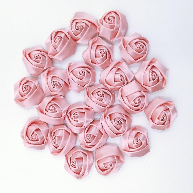 Атласные розы ручной работы, 20 цветов, диаметр 3,5 см