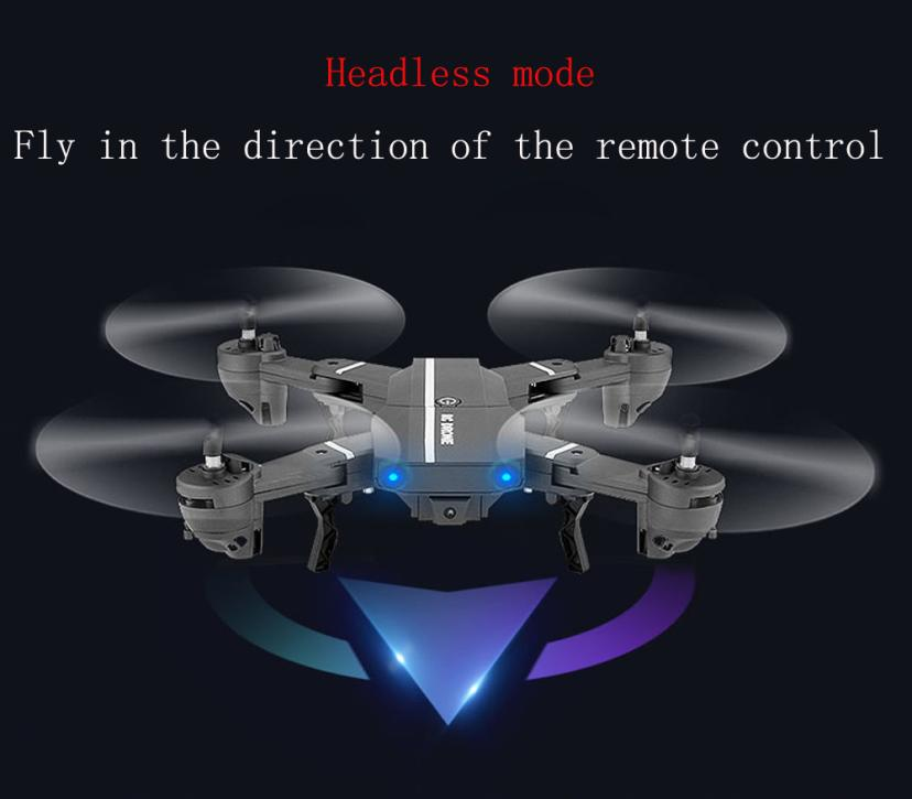 Brand new and high quality 2.4G 4CH Altitude Hold HD Camera WIFI FPV RC Quadcopter Pocket Drone Selfie Foldable Aircraft Toy #JY
