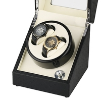 Black Casket Motor Shaker Holder Display Automatic Mechanical Watch Winder Box Winding Case Holder Jewelry Storage Organizer