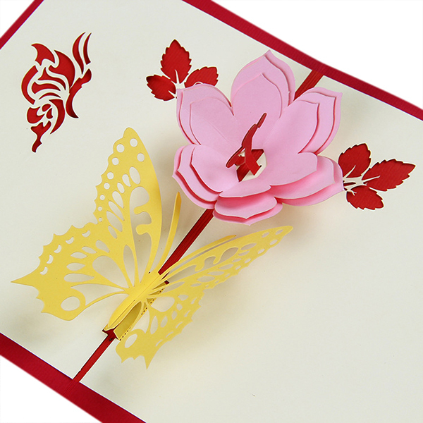 Butterfly flower designs lovely handmade paper 3d greeting cards butterfly flower designs lovely handmade paper 3d greeting cards with envelope birth congratulation gift birthday m4hsunfo