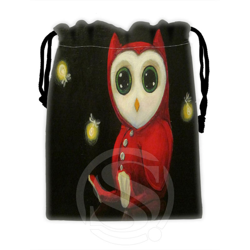 Classic Custom Owl #7 Drawstring Bags For Mobile Phone Tablet PC Packaging Gift Bags18X22cm SQ00715-@H0314