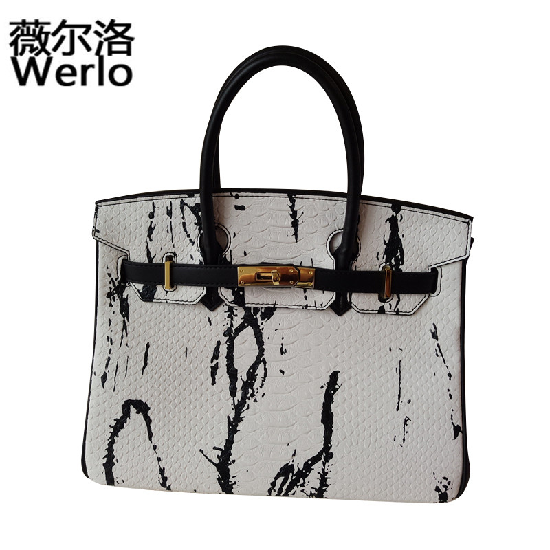 WERLO Brand Designer New High Quality PU Leather Women Bags Totes Ladies Office Handbag Fashion Female Shoulder Bag Bolsas SJ143 high quality shoulder bags designer 2017 handbag ladies small chain shoulder bags women bag bolsas fashion women s handbags