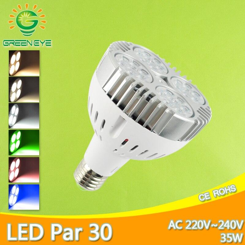 Led E27 35W CONDUZIU a Lâmpada par30 Refletor LED AC 220V 240V led par Lampara para iluminação para casa frio Branco Quente Vermelho Verde Azul Lampara